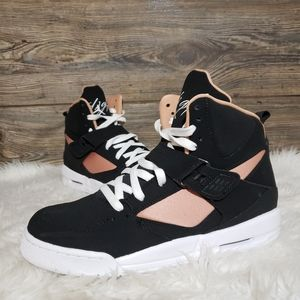 New Nike Jordan Flight 45 High Black Rose Gold